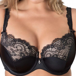 Tulip Lace Push Up Bra (Curvy Couture)