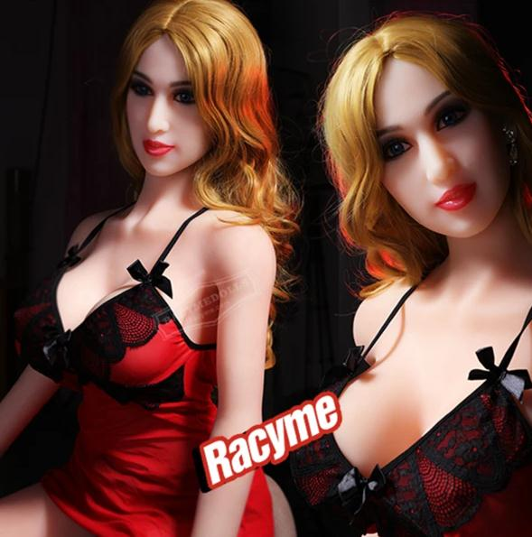 This sex doll made of medical silicone material TPE. TPE is a new type of silicone, which can be ...
